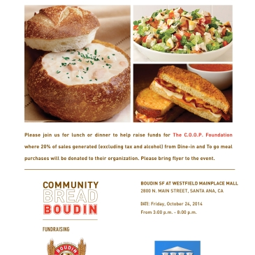 Boudin Bakery Fundraiser
