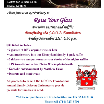 REV Winery Fundraiser